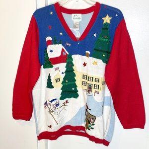 Quacker Factory Christmas Cardigan Sweater 1X